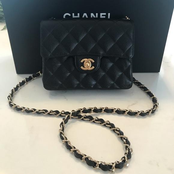 4e26208b467e CHANEL Handbags - Authentic Chanel Caviar Mini Square Flap Bag